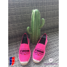 """Flat espadrilles, made in France, personalized """"love always ..."""""""