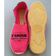 "Espadrilles plates, made in France, personnalisées ""l'amour toujours..."""