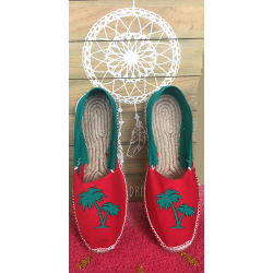 "Basque espadrilles ""palm tree"" bi-color"