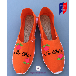 "Women's flat espadrilles ""SO CHIC"""