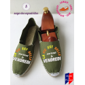 Véritables espadrilles basques à message