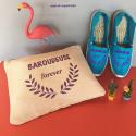 """Véritables espadrilles basques personnalisées """" baroudeuse"""""""