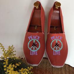 "espadrilles tendances ""peace & love"""